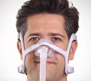 Resmed N20 final fitting of the CPAP Mask